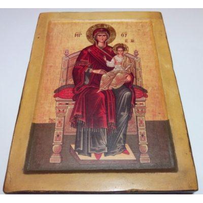 Икона Пресвятая Богородица на престоле