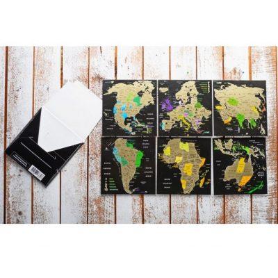 Скретч-открытки КОНТИНЕНТЫ Map of the WORLD