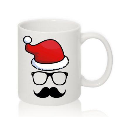 Авторская чашка Усатый Дедушка Мороз