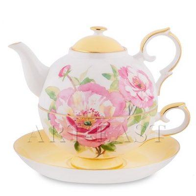 Чайный набор ПИОН (костяной фарфор)