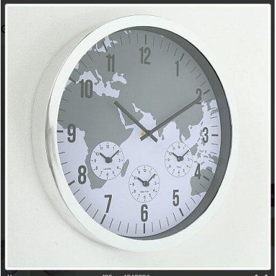 Настенные Декоративные часы NUMBER SILVER