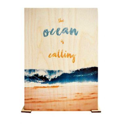 Открытка деревянная Большая OCEAN