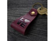 Брелок (нат.кожа) LOVE HEART