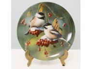 Оловянная коллекционная тарелка ПОСЛЕ ОХОТЫ
