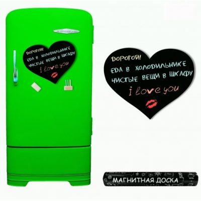 Грифельная доска на холодильник HEART