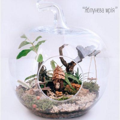 Оригинальный флорариум ЯБЛОЧНЫЕ МЕЧТЫ
