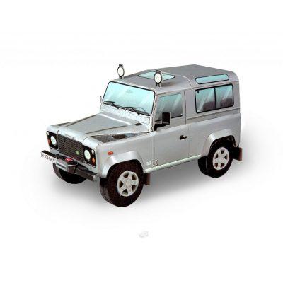 Сборная модель 3D LAND ROVER Defender 90 (серебро)