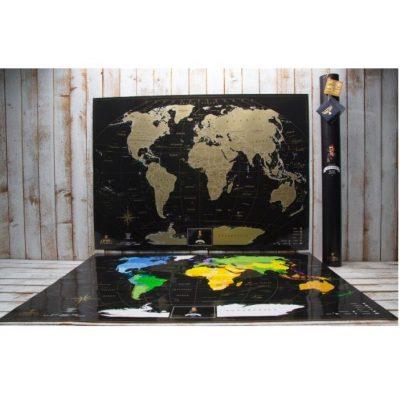Скретч-карта  MY MAP BLACK EDITION