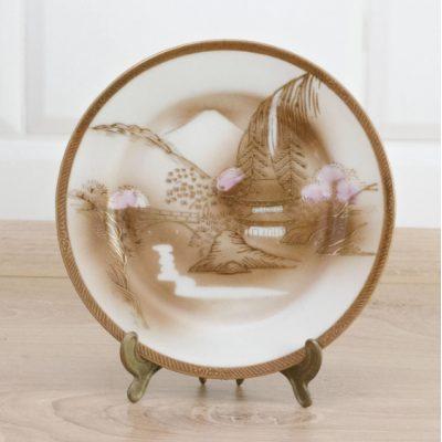 Оловянная коллекционная тарелка ЗАМКИ
