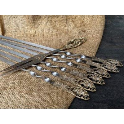 Шампура в наборе ДИКИЙ КАБАН с вилкой в колчане