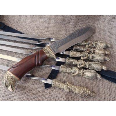 Набор для Шашлыка ПТИЦА с ножом в колчане